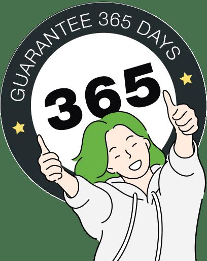 one year money-back guarantee