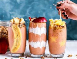 Banana and fruit smoothies