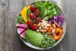 Bowl of healthy food