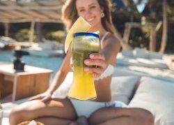 Healthy woman on the beach
