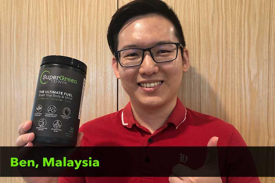 Ben from Malaysia testimonial
