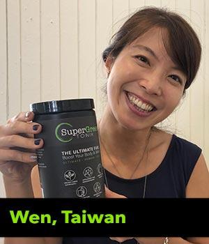 Wen from Taiwan testimonial
