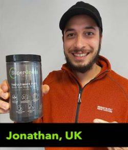 Jonathan from the UK, testimonial