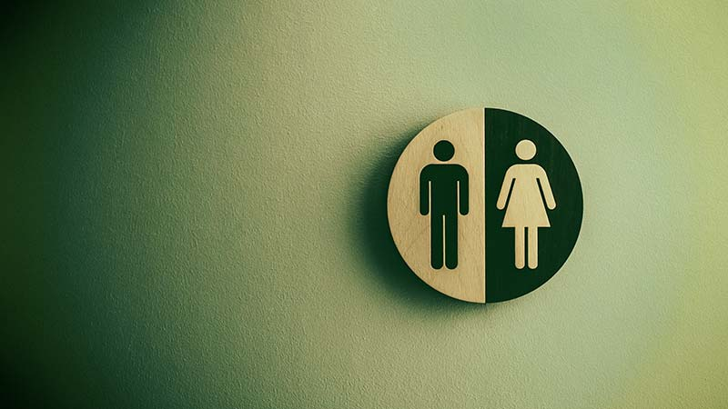 Toilet gender sign