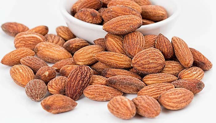 Salted almond nuts