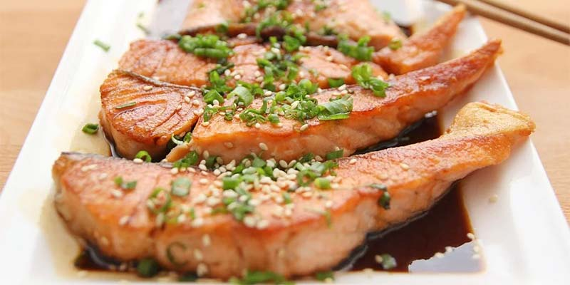 Cooked salmon dish high in Vitamin B12