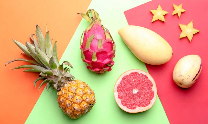 Exotic fruits from around the world